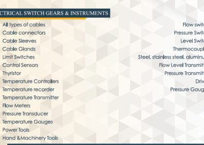 Electrical Switch Gear & Instruments